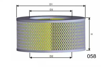 R172 MISFAT Воздушный фильтр