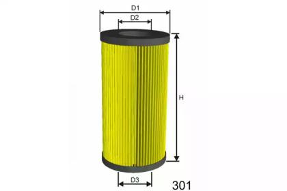 L013 MISFAT Фільтр масляний DB Sprinter/Vito CDI OM611/612/646 (3 резинки)