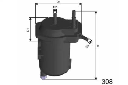 F113 MISFAT Фільтр паливний Nissan Almera/Micra 1.5 DCI 03-/Renault Kangoo 1.5 dCi 01-