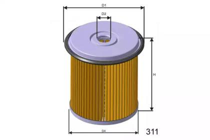 F676 MISFAT Фільтр паливний PSA Jumpy/Expert/Scudo 1.9D/TD 94-