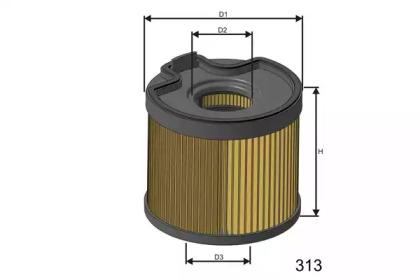 F691 MISFAT Фільтр паливний (сист.Bosch) Peugeot 406/ Partner 2,0HDI