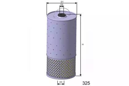 L499 MISFAT Фільтр масляний DB W123 OM615-617