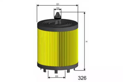 L024 MISFAT Фільтр масляний Opel Astra 2.2I 16V 01-