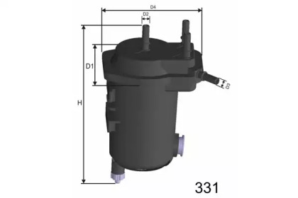 F121A MISFAT Фільтр паливний Renault Kangoo 1.5DCi 05-