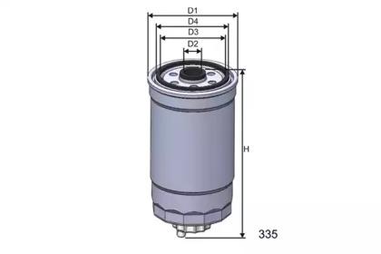M351 MISFAT Фільтр паливний VAG/Seat (вкручується)