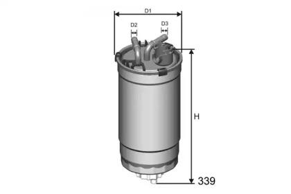 M428 MISFAT Фільтр паливний VW/Skoda/Seat 1.4 TDI /1.9 SDI/TDI 09