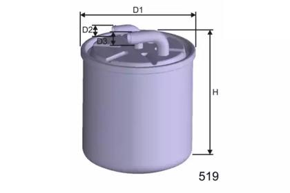 M601 MISFAT Фiльтр паливний DB W211 3/02-,Vito 2.0/2.2 CDI 9/03- ML270/