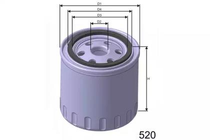 Z134 MISFAT Фільтр масла Nissan Bluebird 2.0 D,TD -9/87, Primera