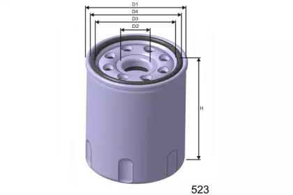Z255 MISFAT Фільтр масла Chery QQ/Daihatsu Charade 1.0 Diesel 87-