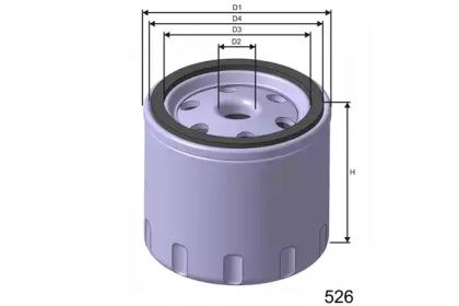 Z254 MISFAT Фільтр масла Rover/Landrover