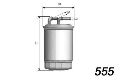 M518 MISFAT Фільтр паливний Skoda Fabia 07/Volksvagen Polo 1.6 TDI 09