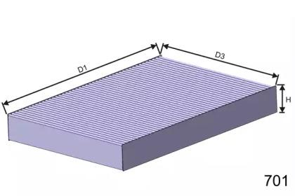 HB188 MISFAT Фильтр, воздух во внутренном пространстве