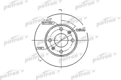 PBD1217 PATRON Тормозной диск