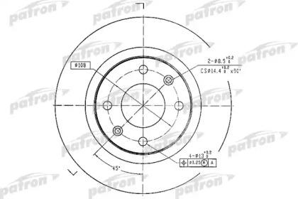 PBD1220 PATRON Тормозной диск