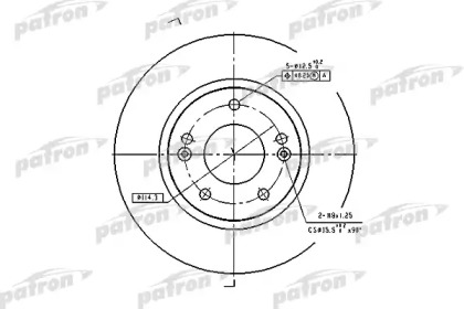 PBD4291 PATRON Тормозной диск