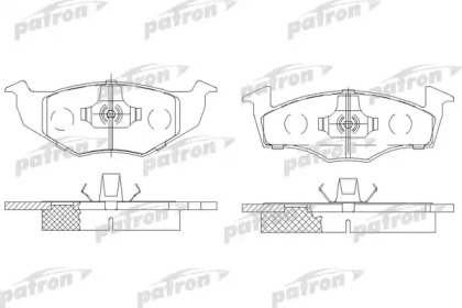PBP1054 PATRON Комплект тормозных колодок, дисковый тормоз
