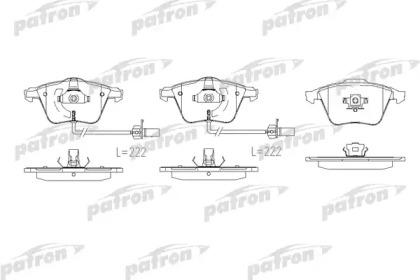 PBP1629 PATRON Комплект тормозных колодок, дисковый тормоз