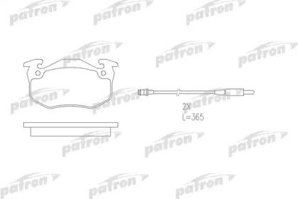 PBP881 PATRON Комплект тормозных колодок, дисковый тормоз