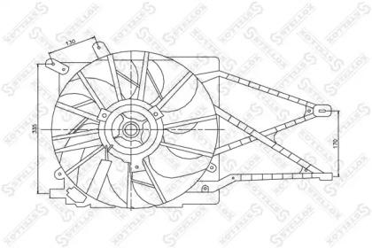 2999321SX STELLOX Вентилятор, охлаждение двигателя
