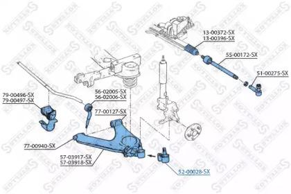 5200028SX STELLOX Несущий / направляющий шарнир