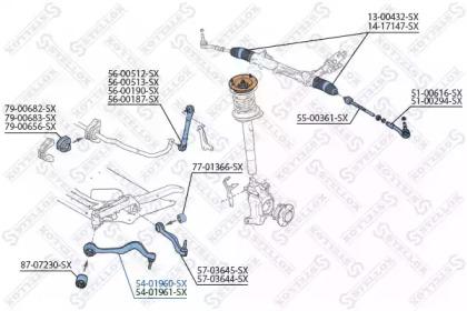 5401960SX STELLOX Рычаг независимой подвески колеса, подвеска колеса
