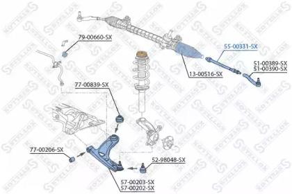 5500331SX STELLOX Осевой шарнир, рулевая тяга