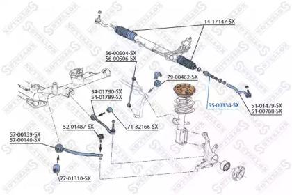 5500334SX STELLOX Осевой шарнир, рулевая тяга -1