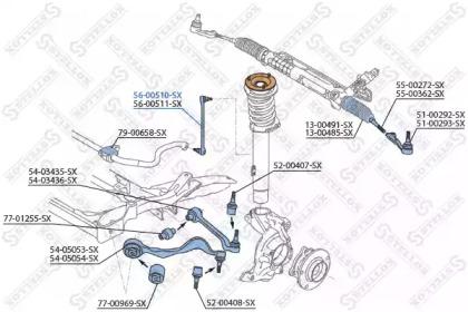 5600510SX STELLOX Тяга / стойка, стабилизатор -1