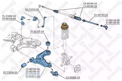 5701010SX STELLOX Рычаг независимой подвески колеса, подвеска колеса -1
