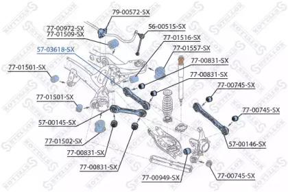 5703618SX STELLOX Рычаг независимой подвески колеса, подвеска колеса