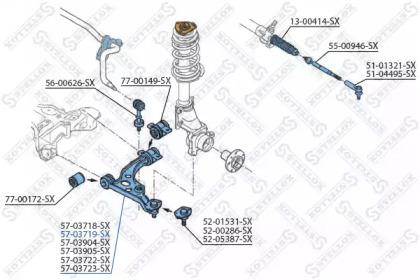 5703719SX STELLOX Рычаг независимой подвески колеса, подвеска колеса