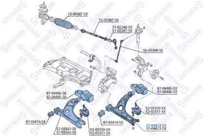 5704612SX STELLOX Рычаг независимой подвески колеса, подвеска колеса -1