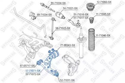 5771071SX STELLOX Рычаг независимой подвески колеса, подвеска колеса