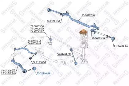 7132166SX STELLOX Подвеска, рычаг независимой подвески колеса