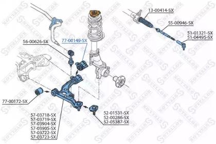 7700149SX STELLOX Подвеска, рычаг независимой подвески колеса