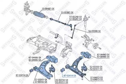 8703414SX STELLOX Подвеска, рычаг независимой подвески колеса