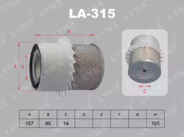 LA315 LYNXAUTO Воздушный фильтр