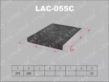LAC055C LYNXAUTO Фильтр, воздух во внутренном пространстве