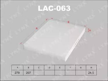LAC063 LYNXAUTO Фильтр, воздух во внутренном пространстве