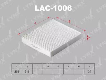 LAC1006 LYNXAUTO Фильтр, воздух во внутренном пространстве