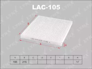 LAC105 LYNXAUTO Фильтр, воздух во внутренном пространстве