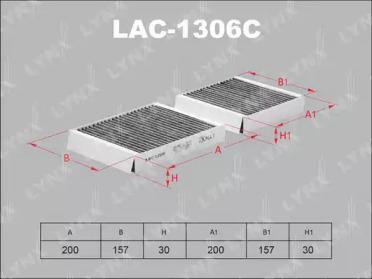 LAC1306C LYNXAUTO Фильтр, воздух во внутренном пространстве