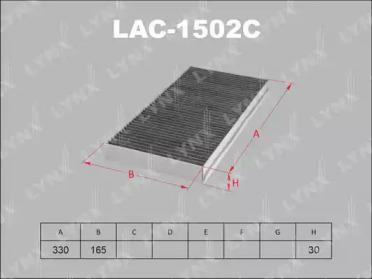 LAC1502C LYNXAUTO Фильтр, воздух во внутренном пространстве