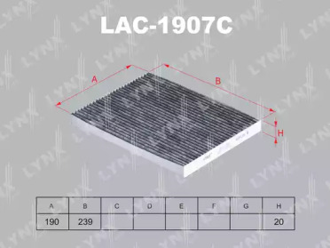 LAC1907C LYNXAUTO Фильтр, воздух во внутренном пространстве