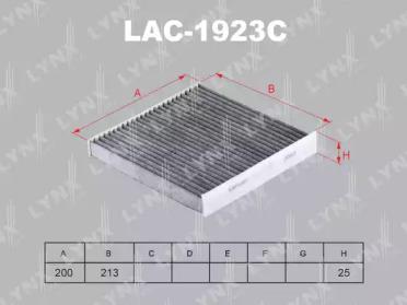 LAC1923C LYNXAUTO Фильтр, воздух во внутренном пространстве