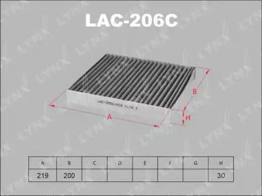 LAC206C LYNXAUTO Фильтр, воздух во внутренном пространстве