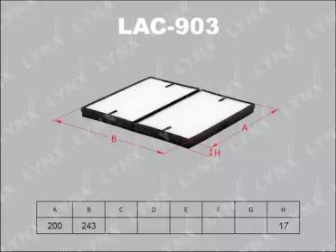 LAC903 LYNXAUTO Фильтр, воздух во внутренном пространстве