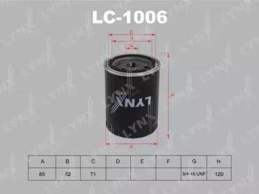 LC1006 LYNXAUTO Масляный фильтр
