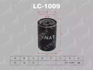 LC1009 LYNXAUTO Масляный фильтр