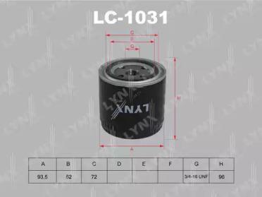 LC1031 LYNXAUTO Масляный фильтр